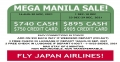 MEGA MANILA SALE - JAPAN AIRLINES!